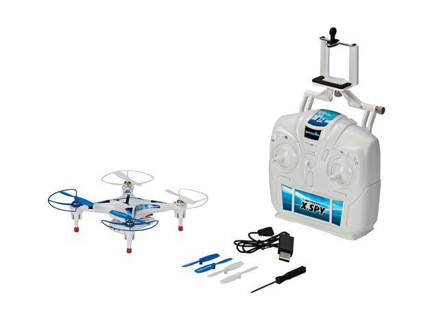 WiFi Quadcopter X-Spy von Revell:Der Quadcopter beherbergt eine Kamera, die via WiFi-Verbindung das Live-Video aus der Luft direkt aufs eigene Smartphone streamt.