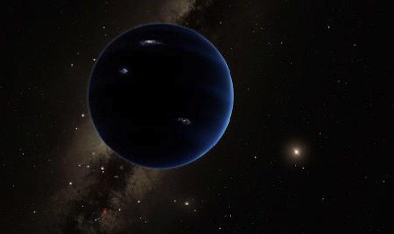 Künstlerische Darstellung von Planet Neun: Seine Umlaufbahn ist 90 Milliarden Kilometer von der Sonne entfernt. Bislang ist Neptun mit 4,5 Milliarden Kilometer Abstand der Außenposten unseres Sonnensystems.