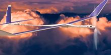 Google testet Solarflugzeuge auf Virgin Galactic Weltraumbahnhof