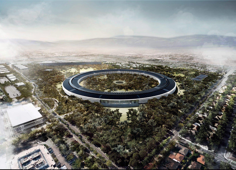 Modell des Apple Campus 2 des Architekturbüros Foster und Partner: Die neue Konzernzentrale in Cupertino wird rund 5 Milliarden $ kosten und ist damit das teuerste Gebäude der Welt.