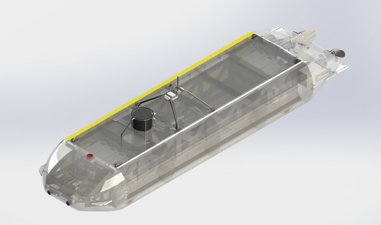 Das autonome Unterwasserfahrzeug kann in Tiefen von 6000 m vordringen.