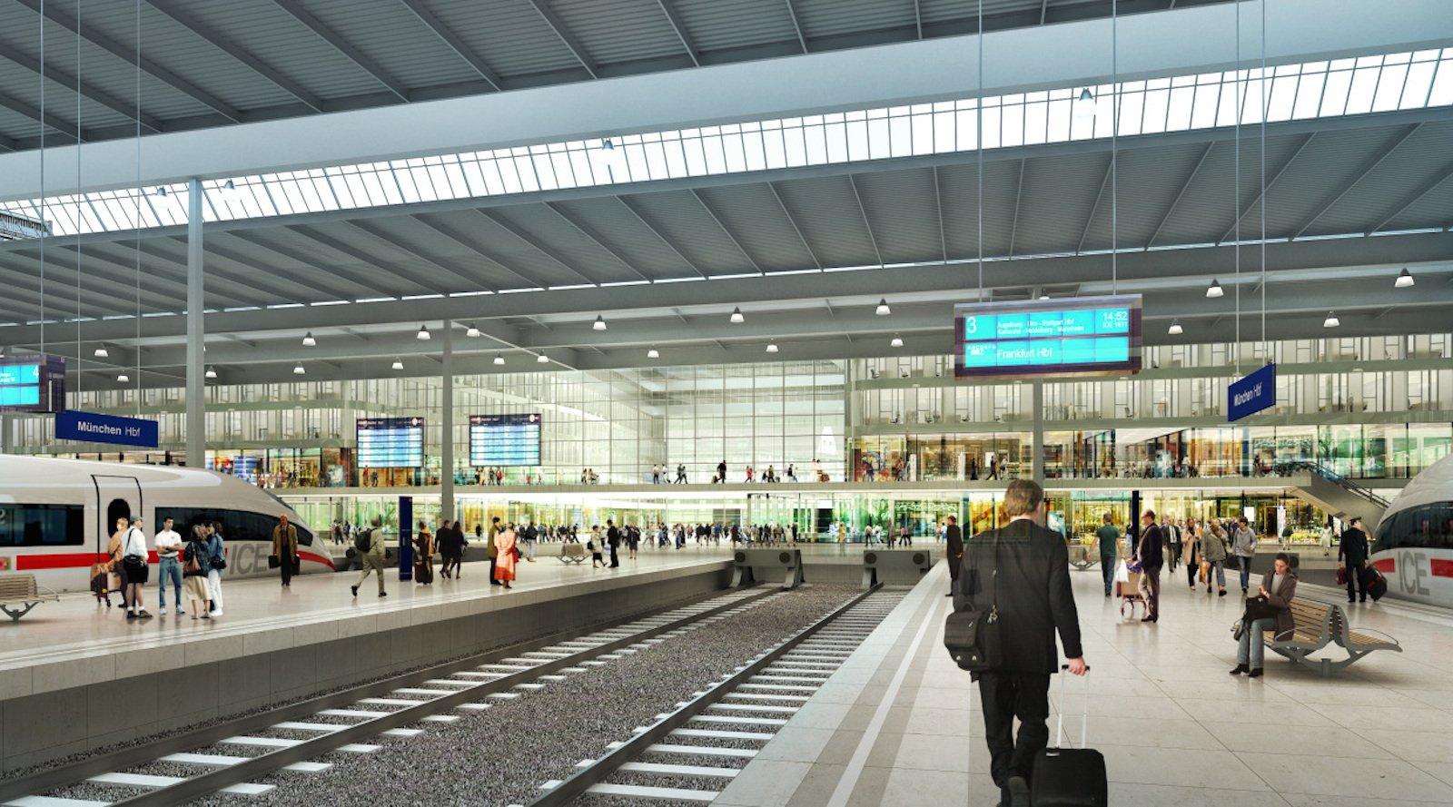 Bahnhöfe mit ihrer Hallenarchitektur haben fast immer mit dem Problem des Nachhalls zu kämpfen.