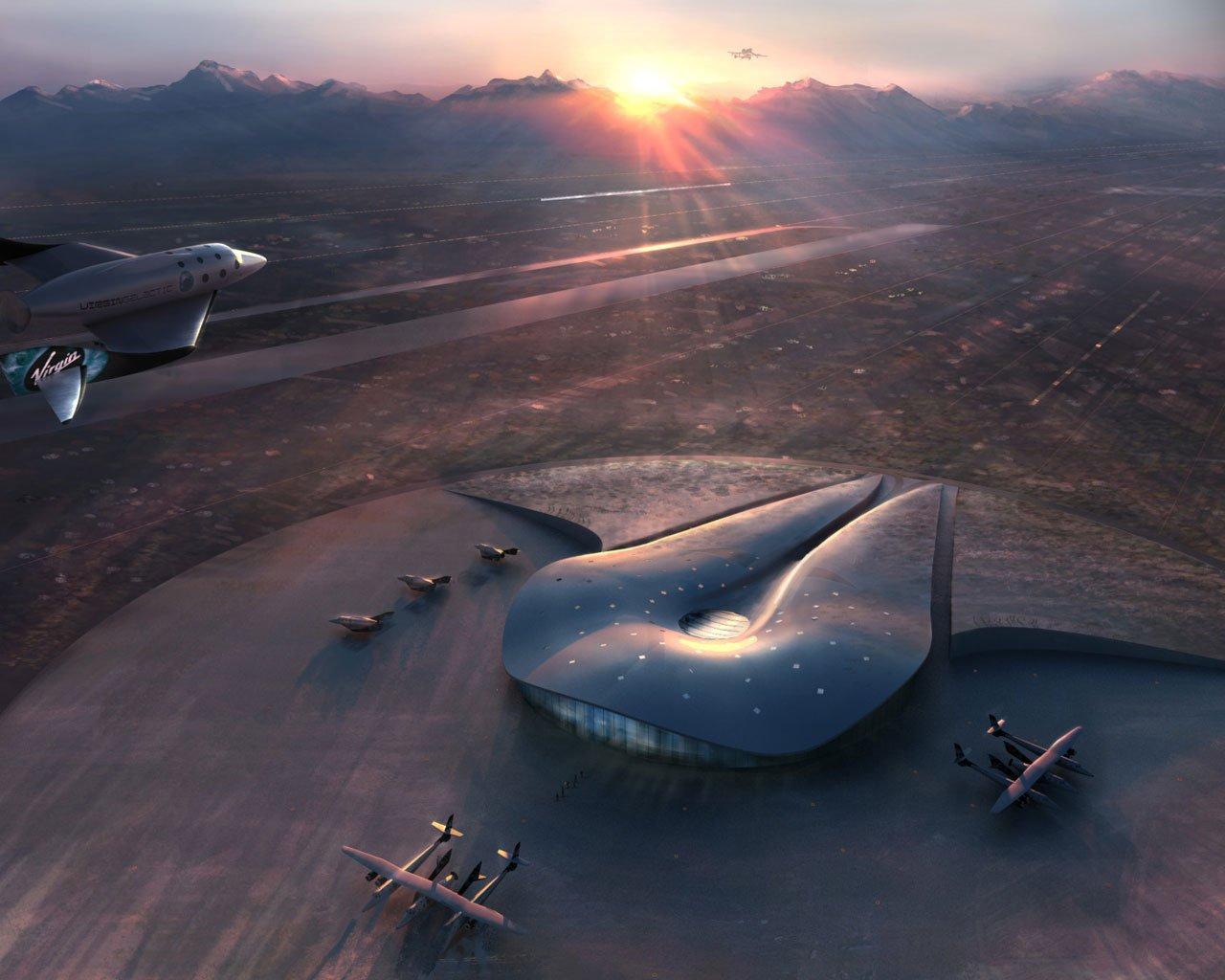 Spaceport America: Von hier aus treten die Weltraumtouristen eines Tages die Reise ins All an.
