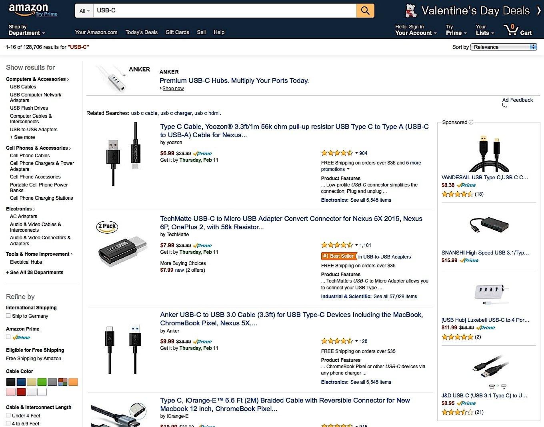 Bei Amazon gibt es viele sehr günstige USB-C-Kabel. Allerdings ist fraglich, ob die etwas taugen. Billigkabel können sogar das Laptop beschädigen.