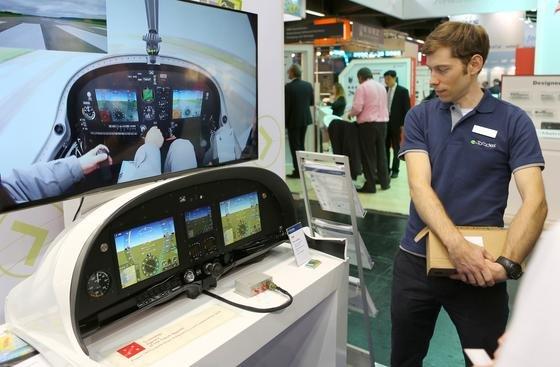 Cockpit-Displays auf der Embedded World: Auch Displays sind ein wichtiges Thema der Messe.
