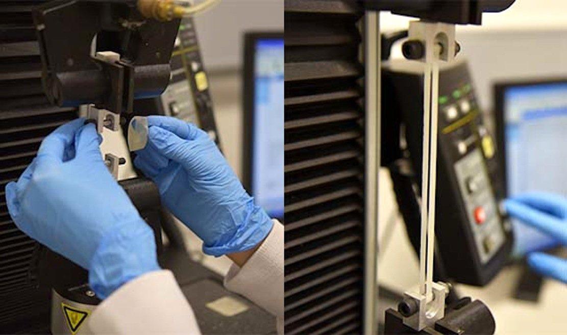Verarbeitung des neuen Materials im Labor der australischenQueensland University.