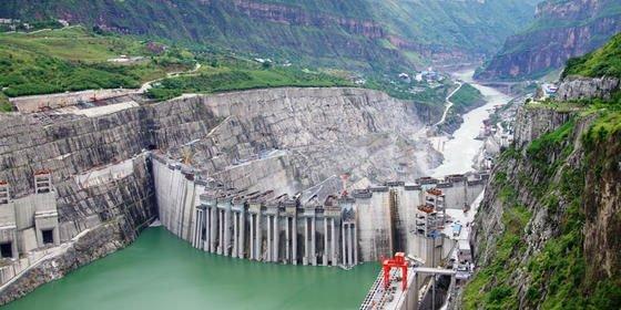 Xiluodu: Das Wasserkraftwerk in China ist das jüngste im Ranking.