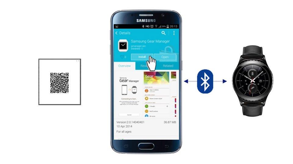 So geht es: Nach dem Kauf einer SmartwatchSamsung Galaxy Gear S2 classic 3G mit eSIM wird noch im Laden derSamsung Gear Manager auf dem kompatiblen Android-Smartphone des Kunden installiert und über Bluetooth mit der Smartwatch verbunden. Die App scannt dann einenpersönlichen QR-Codeaus dem zugehörigen Mobilfunkvertrag und startet den Download des verwendeten SIM-Profils, das anschließend über Bluetooth auf derGalaxy Gear S2 classic 3Ginstalliert wird. Sobald dieser Vorgang beendet und der Mobilfunkvertrag aktiviert ist, lässt sich das erste Telefonat führen.