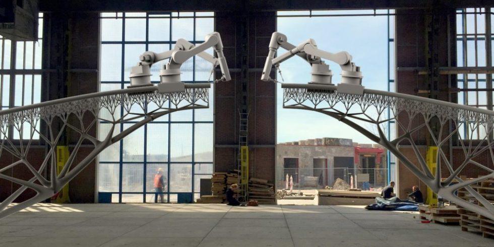 roboter beenden arbeiten an der stahlbr cke in amsterdam. Black Bedroom Furniture Sets. Home Design Ideas