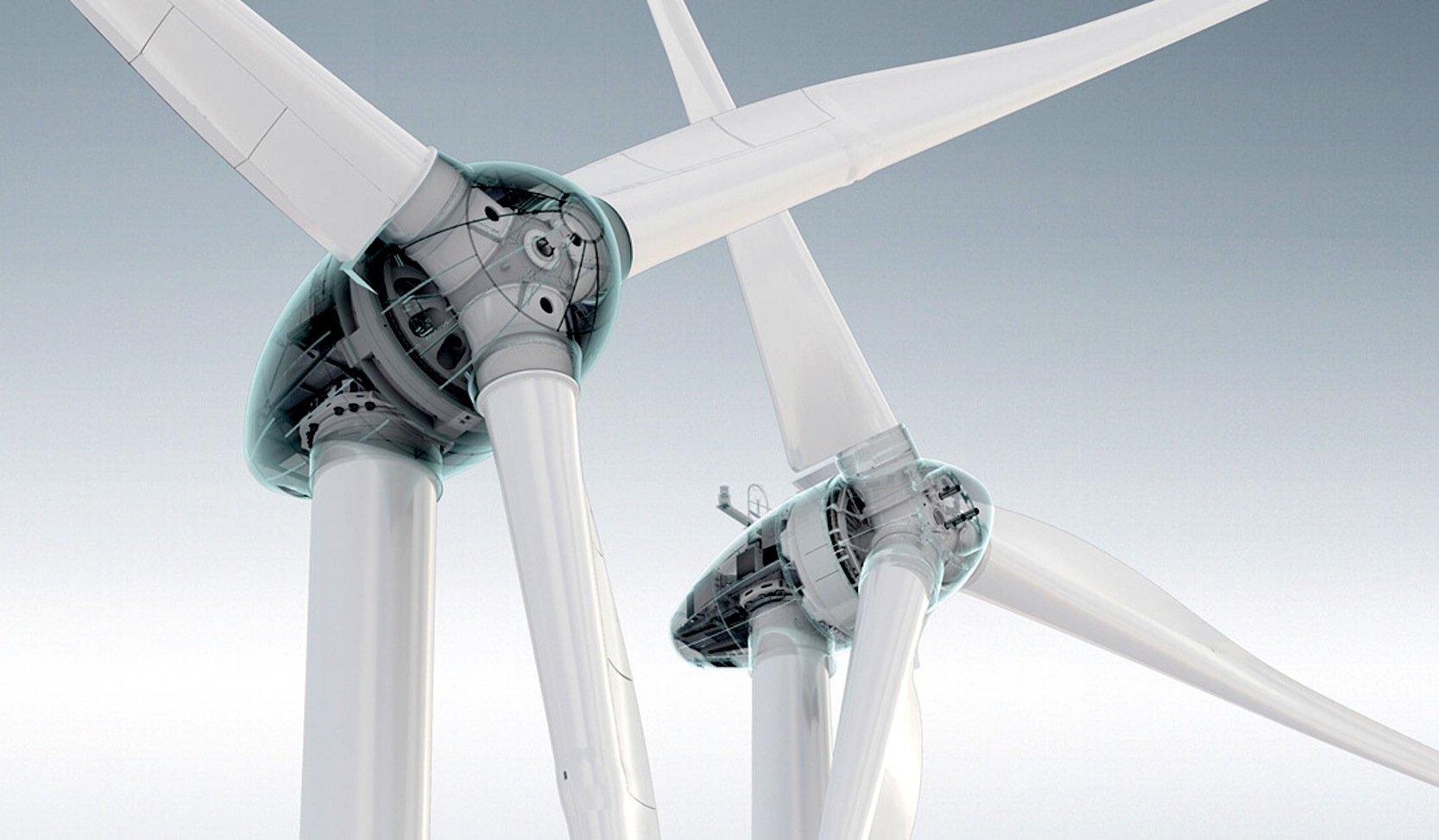 Die Form der Windturbinen des Auricher Herstellers Enercon hat der Architekt Sir Norman Foster entwickelt.