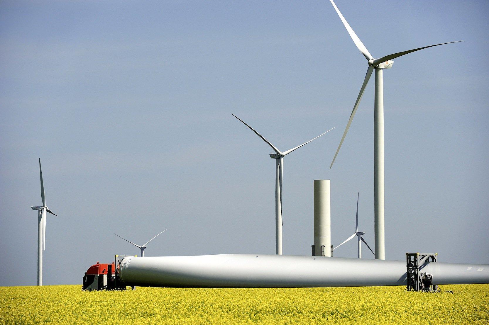 Windpark Fintinelemit Anlagen von General Electric inRumänien: Die Amerikaner liegen weltweit auf Rang 4.