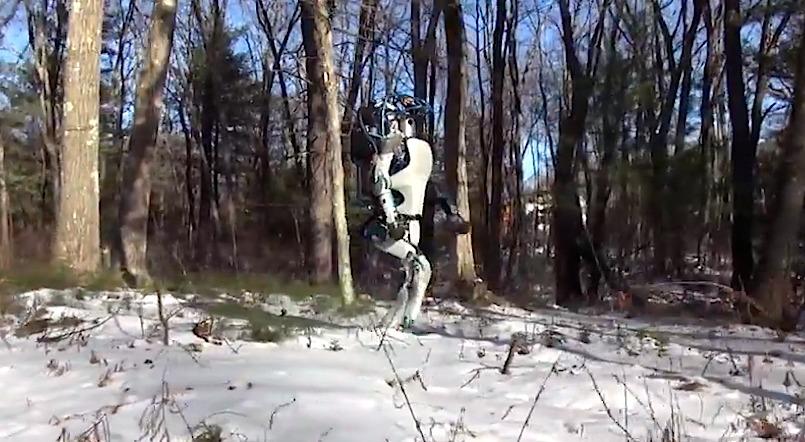 Der erste Roboter auf zwei Beinen, der hinfällt und alleine wieder aufsteht