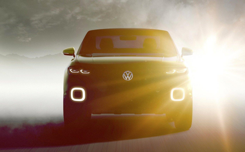 Noch ist es ein Geheimnis, wie der neue VW Polo SUV aussieht. Dieses Bild muss reichen – bis Dienstag. Dann wird das neue Auto vorgestellt.