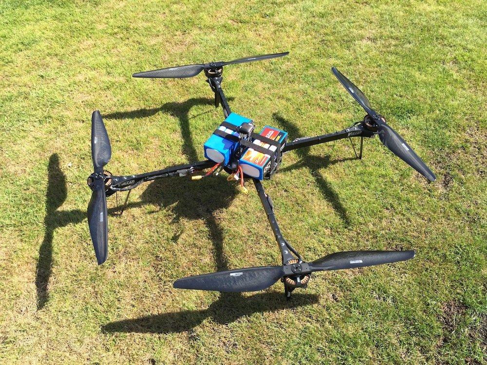 Die Drohne Enduro 1 kurz vor ihrem Start.