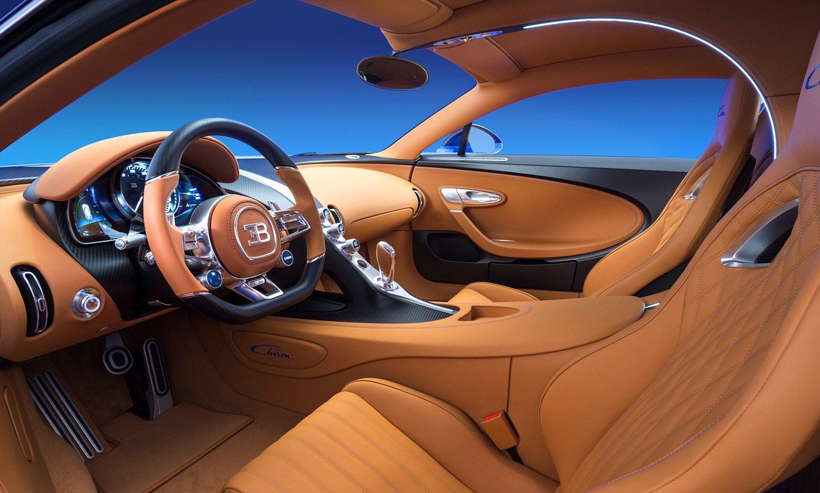Luxus pur: Innenraum des Bugatti Chiron.