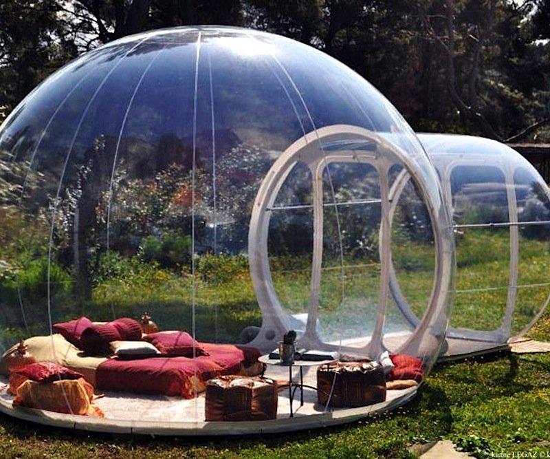 Das Bubble Tent ist weder leicht noch billig. Das aufblasbare Zelt wiegt rund 100 kg und kostet 1.700 $.