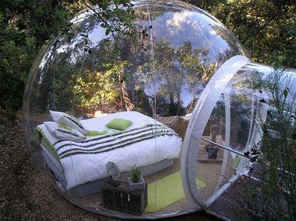 Sehen und Gesehen werden: Transparentes Zelt zum Aufblasen