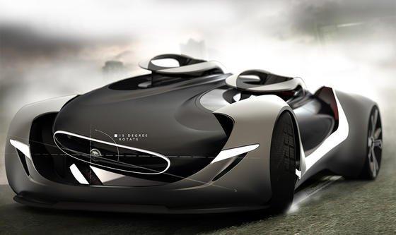 Das Cockpit dieses Jaguar-Prototypen kann sich in der Kurve neigen.