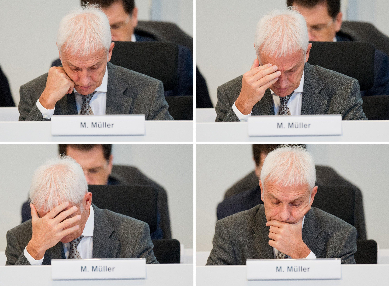 VW-Chef Matthias Müller sah auf der Betriebsversammlung am Dienstag im VW-Werk Wolfsburg nicht glücklich aus. Kein Wunder: Die Staatsanwaltschaft Braunschweig hat ihre Ermittlungen ausgeweitet, die Allianz will auf Schadenersatz klagen und auch die US-Behörden erheben neue Vorwürfe.