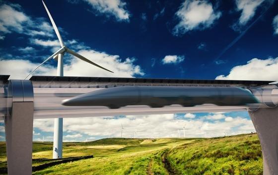 Illustration des Hyperloops: Das Start-up HTT will im Auftrag der slowakischen Regierung die Machbarkeit des Baus einer Strecke zwischenBratislava und Košice prüfen, mit einer möglichen Verlängerung bis Wien und Budapest.