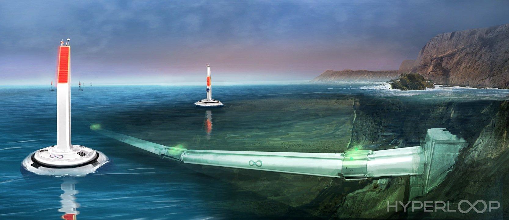 Nicht nur an Land, auch unter Wasser lassen sich Hyperloop-Verbindungen denken.