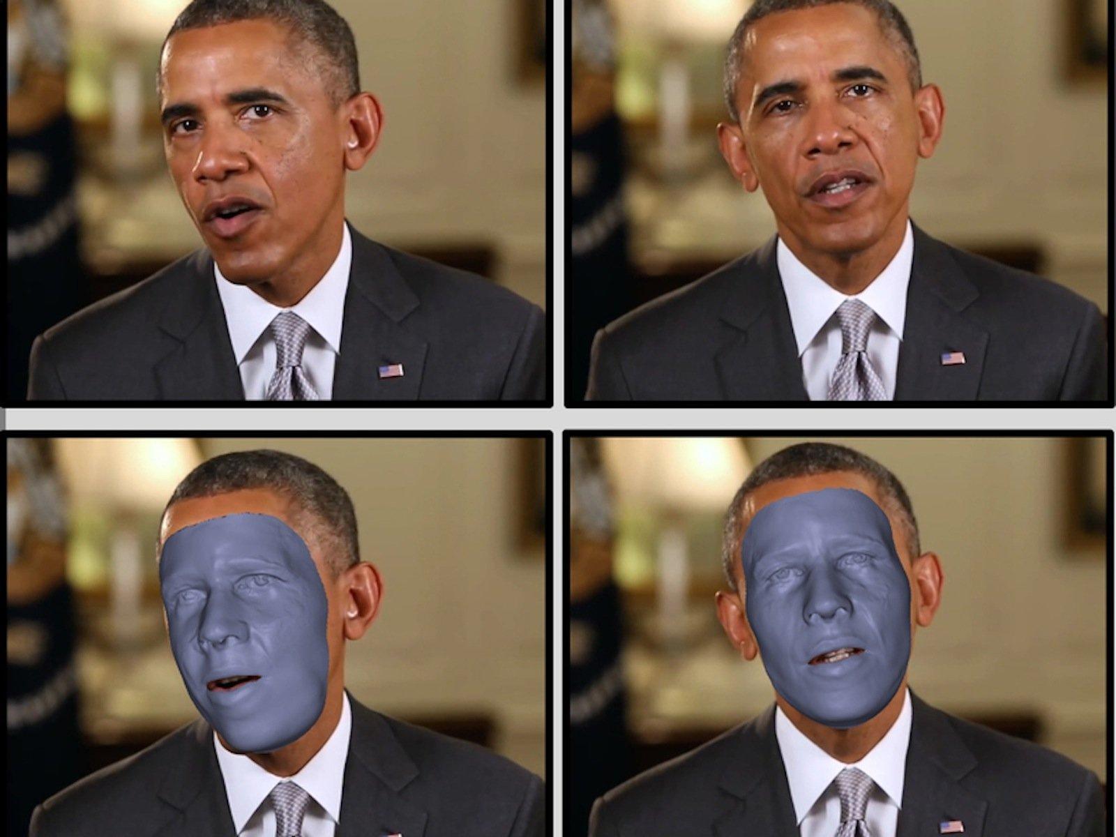 Das Gesicht des US-Präsidenten lässt sich mühelos in ein 3D-Modell übertragen. Mit einer neuen Software aus Saarbrücken.