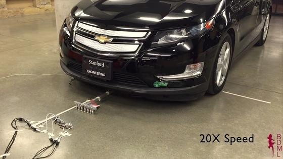 Man mag es kaum glauben: Diese sechs Miniroboter – jeder 17 Gramm leicht – ziehen gemeinsam ein 1,8 Tonnen schweres Auto.
