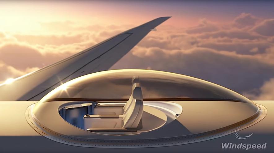 Illustration des Sky Decks: Passagiere sollen in der gläsernen Aussichtskabine einen unglaublichen Panoramablick genießen.