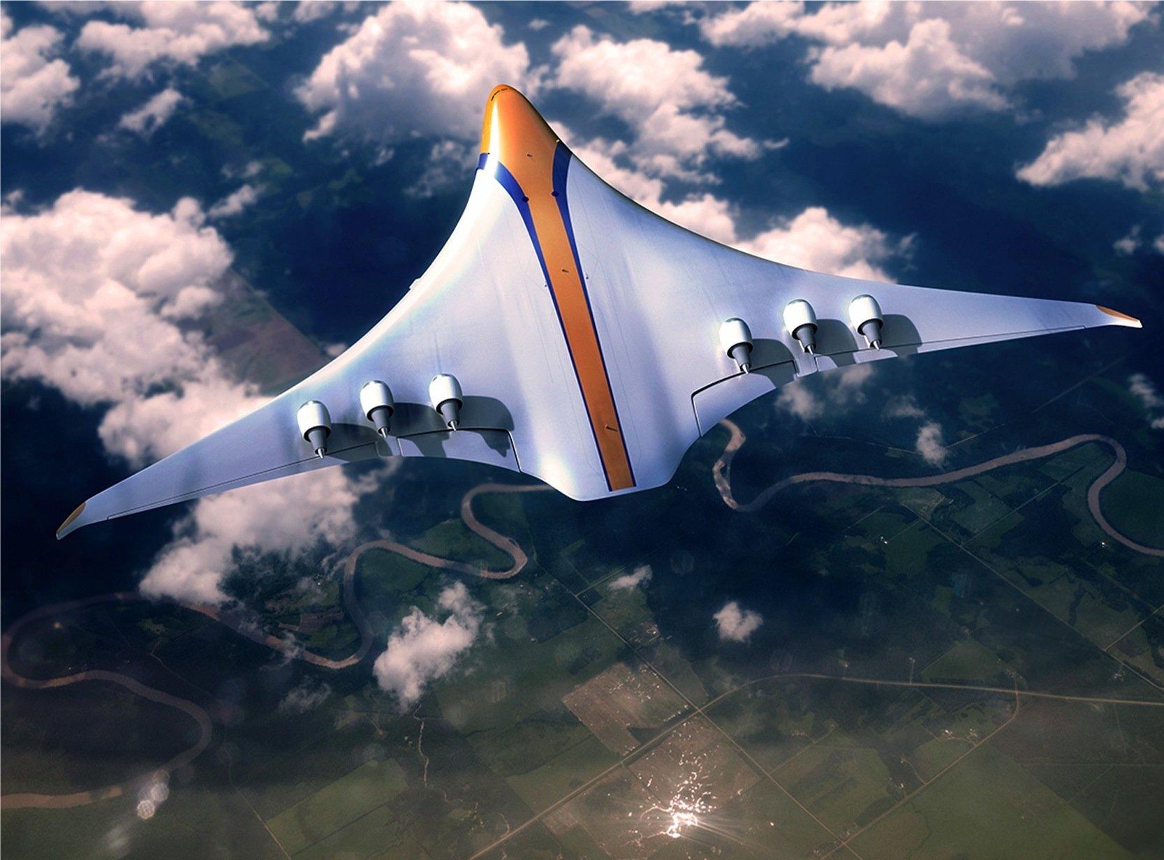 Das Konzeptflugzeug von APHverfügt über einen Hybridantrieb. Die Turbinen werden elektrisch angetrieben.
