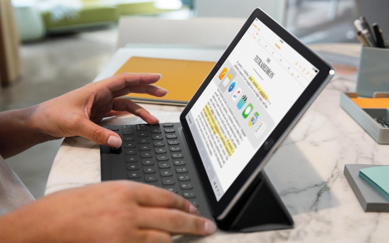 Auch an das iPad Pro kann eine Tastatur angeschlossen werden.