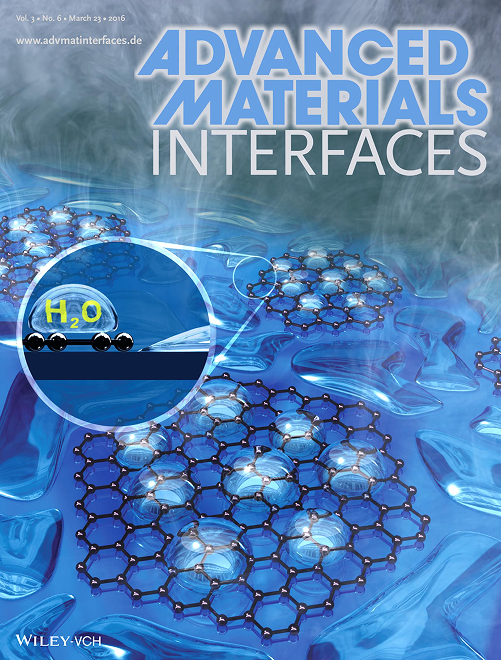 Titelthema in der Fachzeitschrift Advanced Materials Interfaces: das Waschen mit Nanopartikeln.