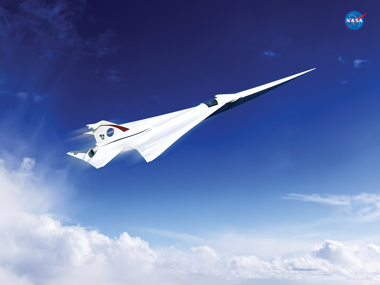 Das ist ein aktueller Entwurf von Lockheed Martin für ein Überschallflugzeug. Die Nasa hat den Flugzeugbauer mit der Entwicklung eines Konzeptes beauftragt.