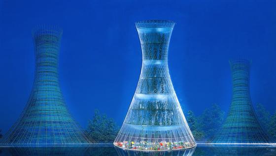 Salatanbau mitten in der Stadt? Das machen Skyfarms möglich. Die Hochhäuser aus Bambus ragen 80 m in den Himmel.