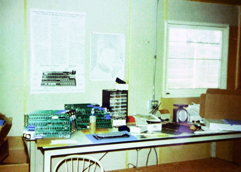 In der Garage der Eltern von Steve Jobs in Mountain View in Kalifornien baute Steve Wozniak den ersten Apple Computer.