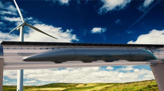 So stellt sich Hyperloop Transportation Technologies den Hyperloop vor: Das Unternehmen eines deutschen Unternehmers will 2018 die ersten Passagiere befördern.