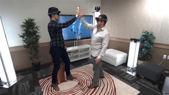 Holoportation: So stellt sich Microsoft den Video-Chat der Zukunft vor