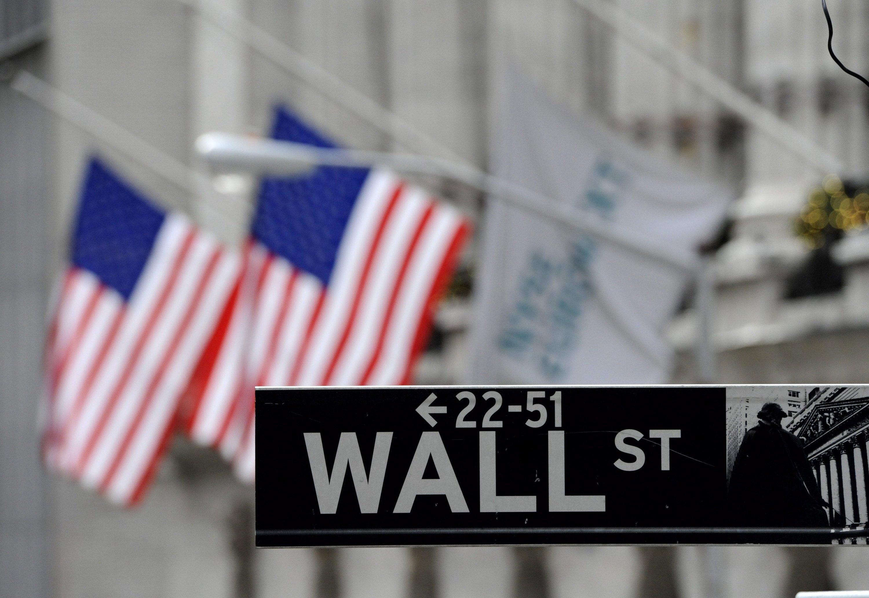 New York liefert sich seit Jahren mit London ein Kopf-an-Kopf-Rennen mit London um den Titel des größten Finanzplatzes der Welt. Im Bild die New Yorker Börse an der Wall Street.