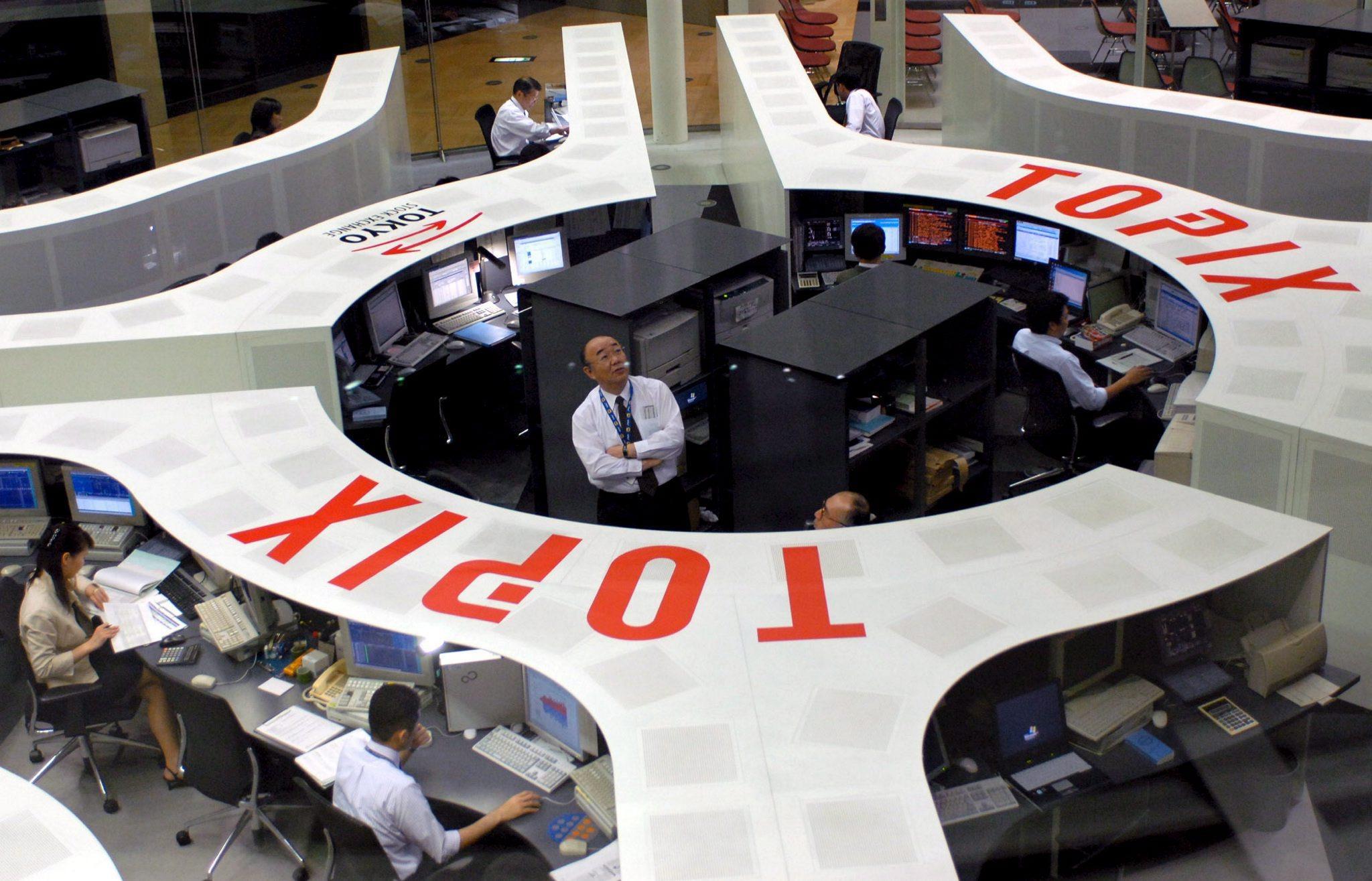 Die Börse in Tokio ist nur die Nummer 3 in Asien: Größer sind die Finanzplätze in Hongkong und Singapur.