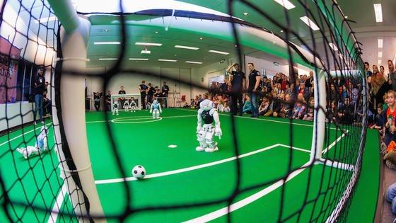 Fußball der anderen Art: Imniederländischen Eindhoven kämpften am Sonntag Roboter um den Europameisterschaft-Titel.