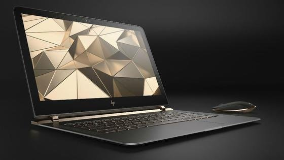 Spectre 13 ist das flachste Notebook der Welt. An der dicksten Stelle misst das Aluminiumgehäuse lediglich 10,4 mm.