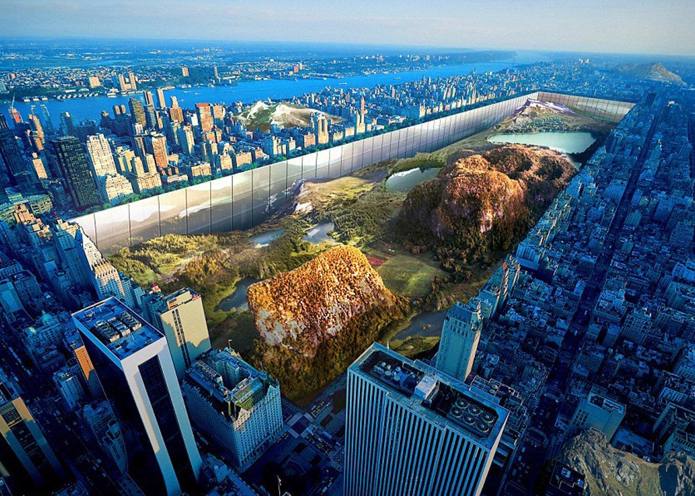Den 1. Platz des eVolo-Hochhauswettbewerbes belegt eine kühne Vision einer vertikal verlaufenen Hochhausarchitektur rund um den Central Park in New York.