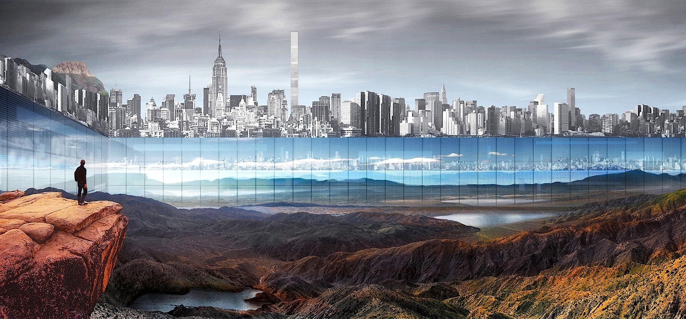 Das werden sich die New Yorker kaum gefallen lassen: Dieamerikanischen Architekten Yitan Sun und Jianshi Wu können sich vorstellen, den Park abzusenken und in eine dramatische Landschaft zu verwandeln, auf die von den umgebenden Hochhäusern heruntergeschaut werden kann.