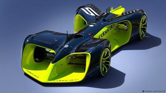 """Nvidia hat einen extrem leistungsfähigen Grafikprozessor entwickelt, der in der neuen Rennserie """"Roborace"""" der FIA in fahrerlosen Elektroautos eingesetzt werden."""