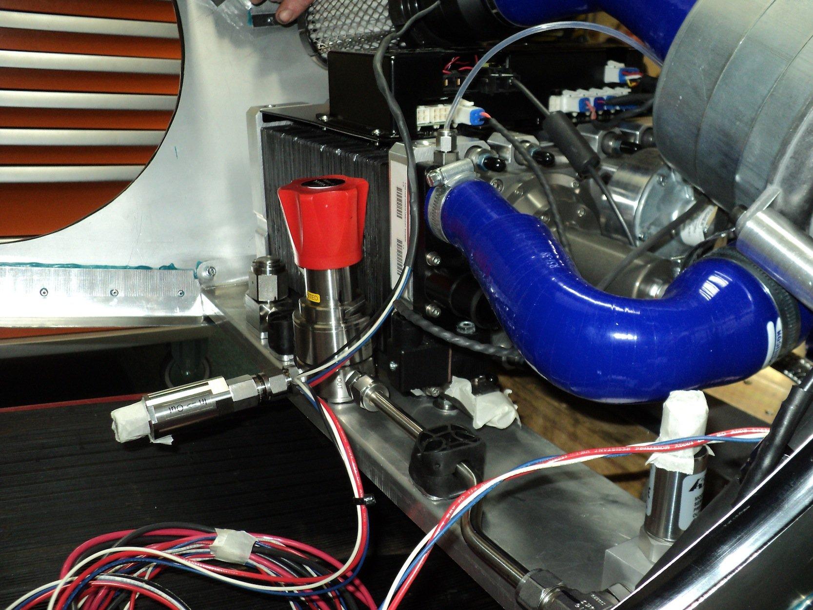 Die Brennstoffzelle im Riversimple: Mit nur 1,5 kg Wasserstoff soll das Auto 480 km weit fahren können.