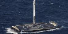 SpaceX-Rakete landet punktgenau auf Plattform im Meer
