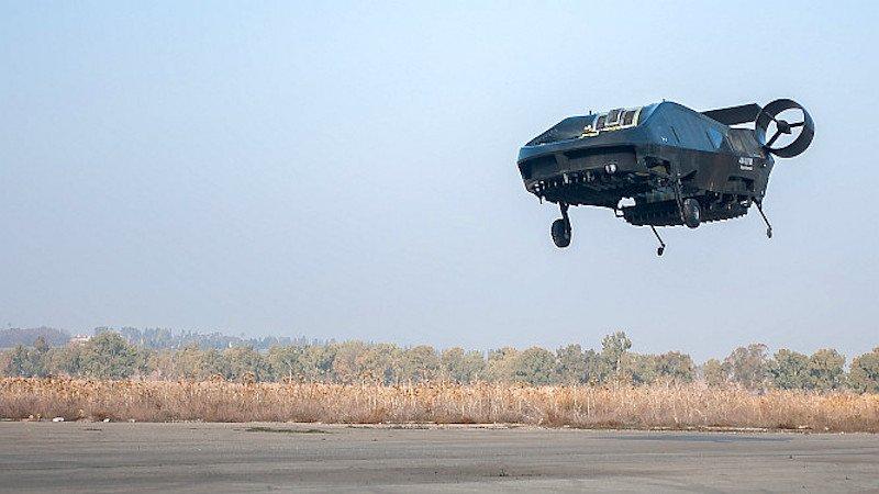 In der israelischen Wüste hat AirMule am 30. Dezember 2015 seinen ersten freien Testflug absolviert.