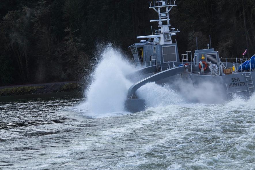 Mit diesem Roboterschiff jagt die US-Marine U-Boote