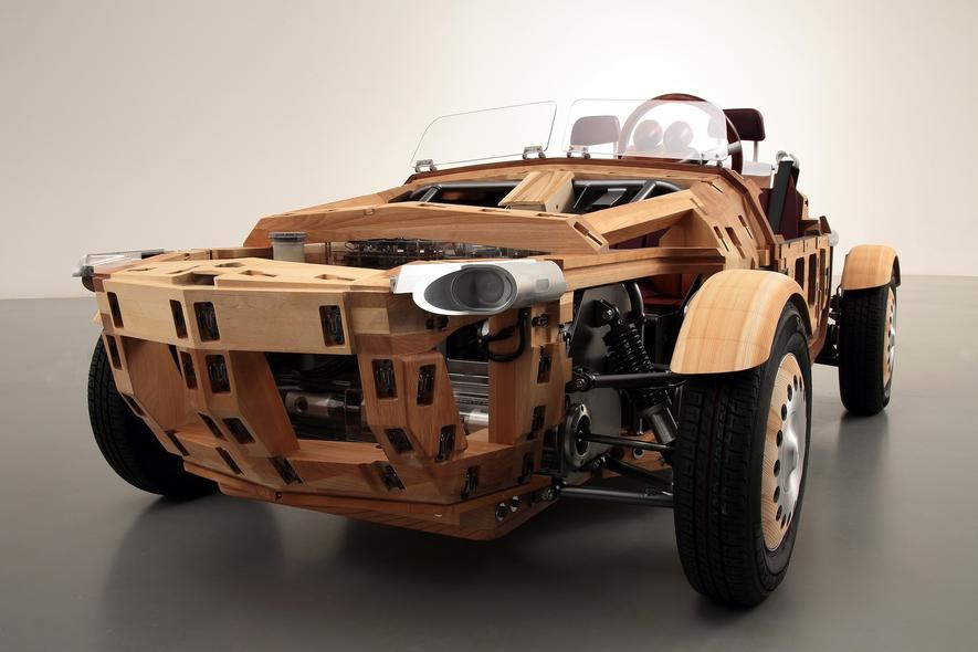 Toyota definiert Holzklasse neu: Auto aus japanischer Birke