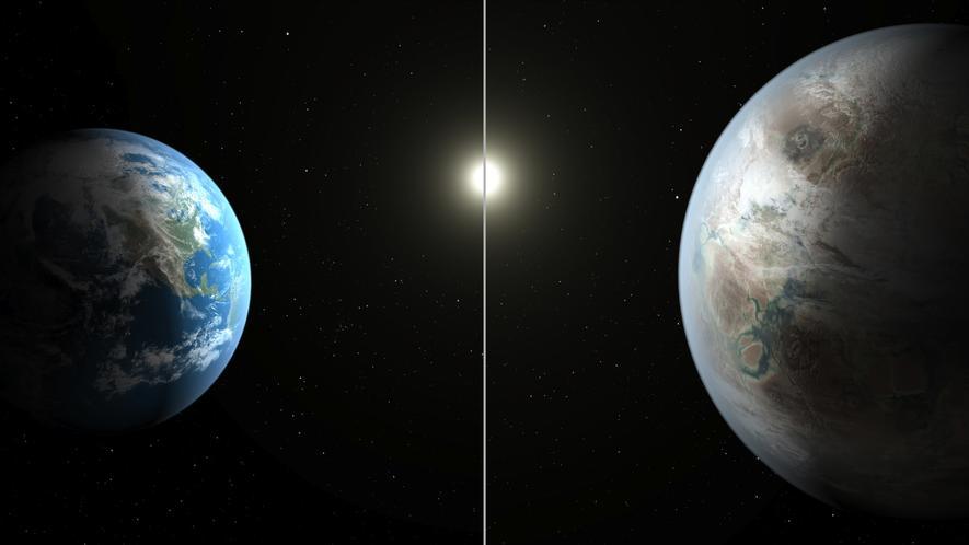 Die neue Erde, die dasKepler-Teleskop bei seiner Reise durchs All entdeckt hat, bietet angenehme Temperaturen und könnte sogar flüssiges Wasser aufweisen. Laut Nasa ist der neue Planet Kepler-452b von allen bekannten Planeten der Erde am ähnlichsten.