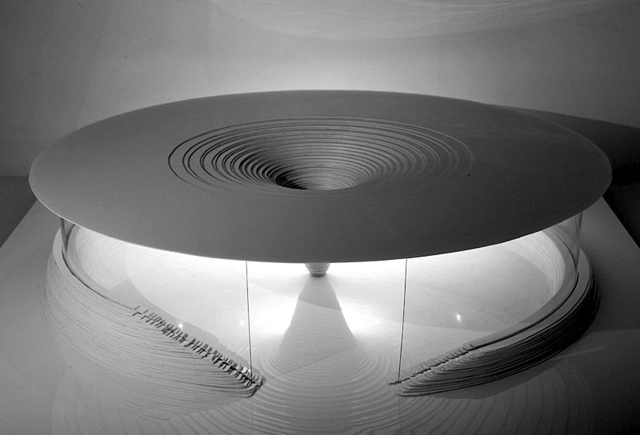 """Für Chicago hat David Tajchman""""Mushroom"""" entworfen, ein Gebäude, das einer Muschel ähnelt."""
